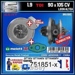 CHRA Melett Seat Leon Altea 1.9 TDI 90 105 BRU BXE Turbo 751851 GT1646V