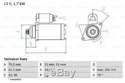 Démarreur pour VW Audi Seat Skoda Passat Variante 3C5 Bwv Bkp Cbab Bve Bma Bmr