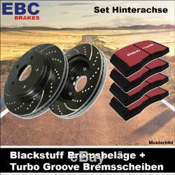 EBC Kit de Freins Essieu Étoffe Noire Plaquettes Turbo Groove Disques 20713
