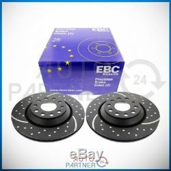 EBC pour Audi A3 8V VW Golf 7 Turbo Groove Disques de Frein Essieu Arrière